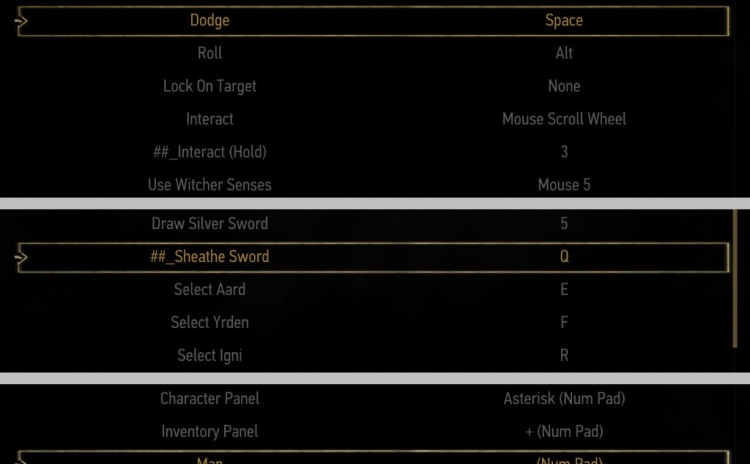 Extended Keybind Options Menu